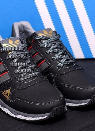 мужские кожаные кроссовки adidas(40-45р)