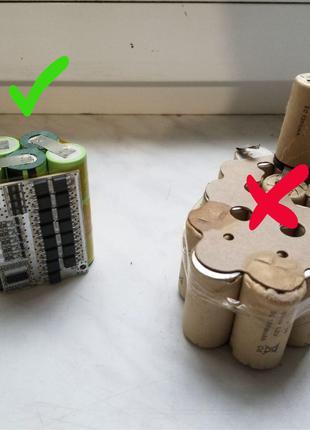 Перепаковка аккумулятора шуруповерта на Li-ion. Якісно, акуратно.