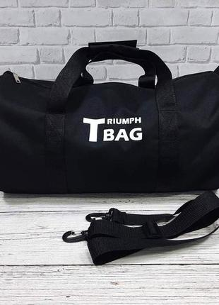 Черная спортивная сумка бочонок