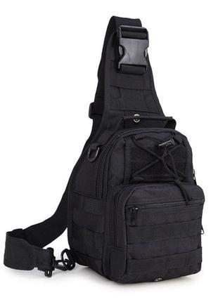 Тактическая сумка-рюкзак черная
