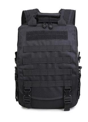 Черная тактическая сумка-рюкзак