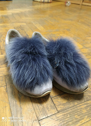 Кожанные туфли с мехом демисезон