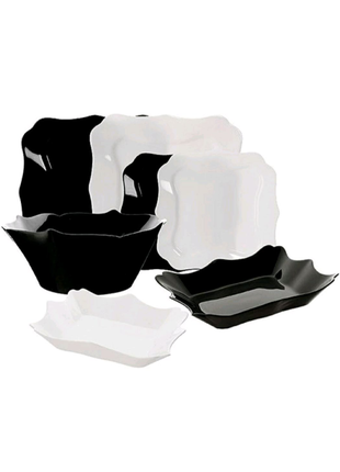 Набор красивой посуды столовый сервиз блюдо тарелка глубокая миск