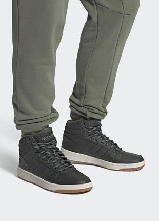 Мужские кроссовки adidas hoops 2.0 mid fw3514