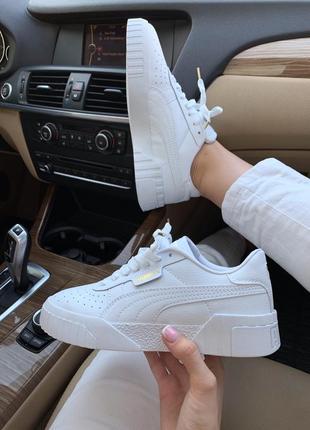 Кроссовки женские puma basket white