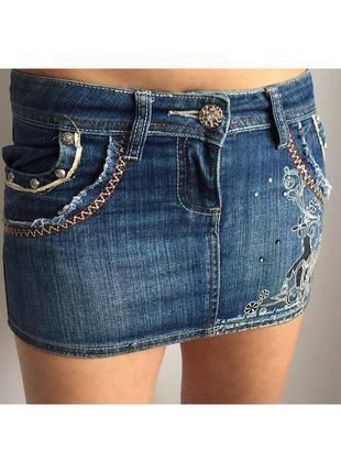 Джинсова юбка, джинсова спідниця, коротка спідниця, джинсовая ...