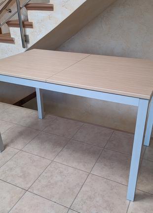 Стол раскладной раздвижной кухонный, обеденный (ДСП и алюминий)