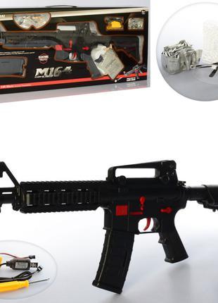 Игрушечный автомат на водных пулях орбизах M16-4+, аккумулятор