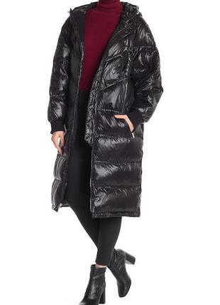 Длинное пуховое пальто-пуффер-кокон пуховик  7 for all mankind