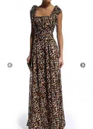 Леопардовый сарафан, платье