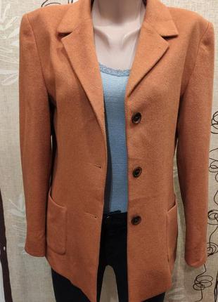 Шикарный пиджак, полупальто из шерсти и ангоры