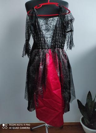 Карнавальный, костюм на хеллоуин королева, вампирша,  ведьмочк...