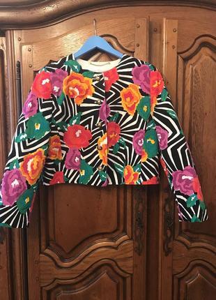 Пиджак в цветочный принт louis feraud