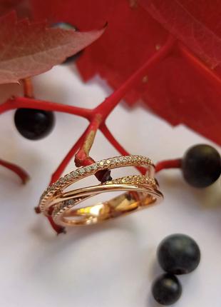 Кольцо с камнями медсплав медзолото медицинское золото