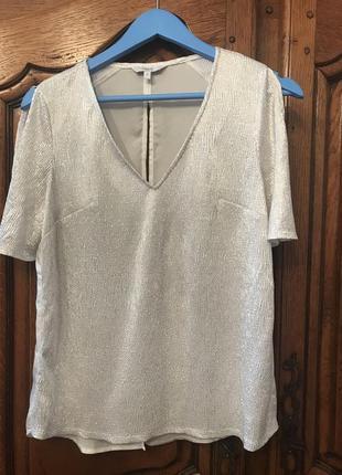 Серебристая блузка next