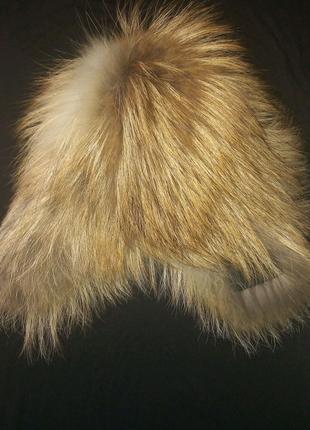 Шапка-парик теплая с натуральным мехом
