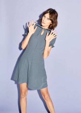 Эксклюзивное винтажное платье в горошек с объемными рукавами m...