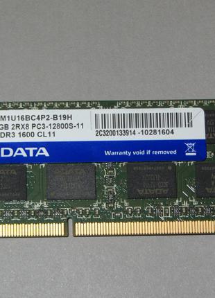 Adata 4Gb 2Rx8 PC3-12800s-11 DDR3 1600 CL11 оперативная память