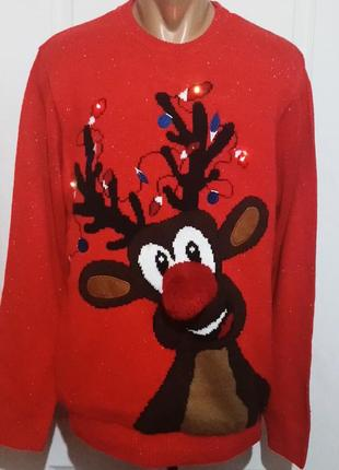 Новогодний свитер. мигает .