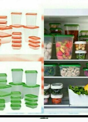 Набор из 17 пищевых контейнеров Икеа