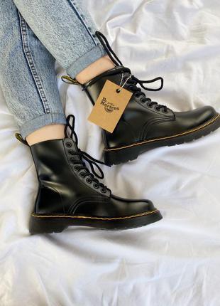 Шикарные кожаные осенние ботинки сапоги dr.martens 1460 black ...