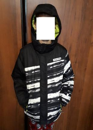 Теплая зимняя термо куртка мальчику 11 - 12 лет yigga