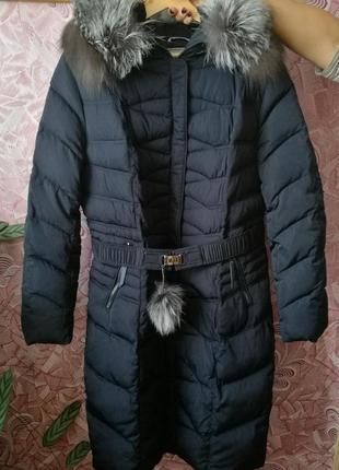 Темно-Синяя Зимняя Куртка Damader размер 52, два раза одевали.