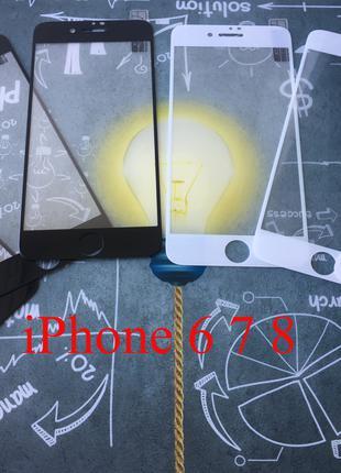 АКЦИЯ iPhone 6 7 8 PLUS X XR XS 11 PRO защитное стекло