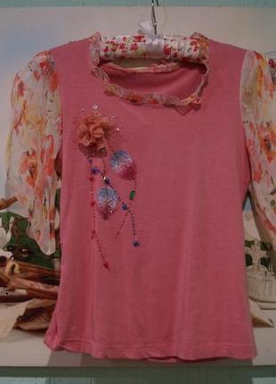 Блуза на девочку 10-12 лет