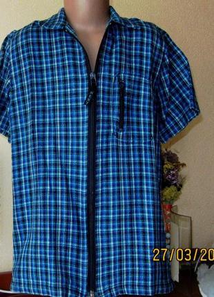 Рубашка на змейке с коротким рукавом