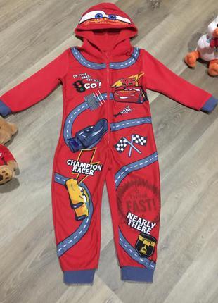 Флисовая пижама тачки ,слип,человечек, кигуруми  , на 2\3 года!