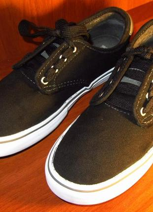 Кеды мокасины vans  с кожаным задником. оригинал. обувь # 1 дл...