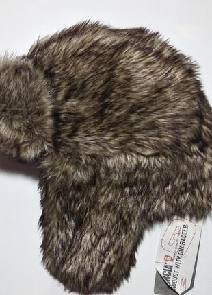Шапка ушанка garcia jeans женская мех зимняя гарсия жіноча зимова