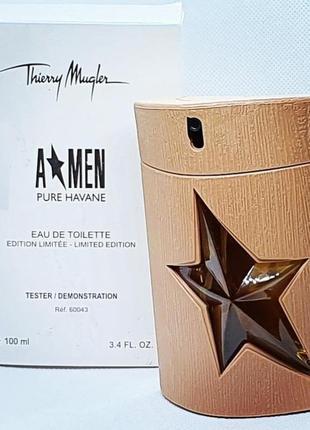 Мужская туалетная вода thierry mugler a*men pure havane, тесте...