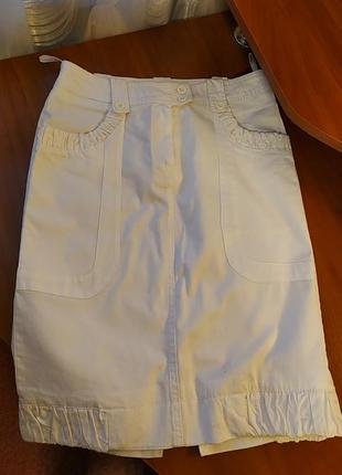 Белая юбка стрейч. турция
