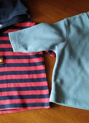 Флисовый свитер и трикотажная кофта одним лотом