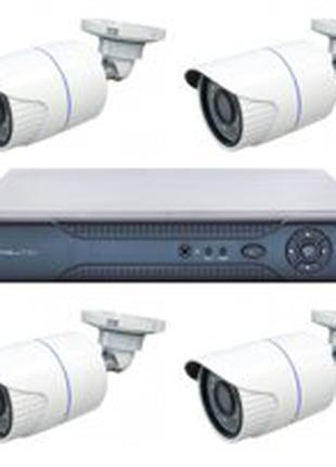 Комплект видеонаблюдения с монтажом 2мп, 5мп. Без посредников.