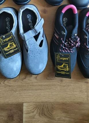 Рабочие ботинки с железными носками