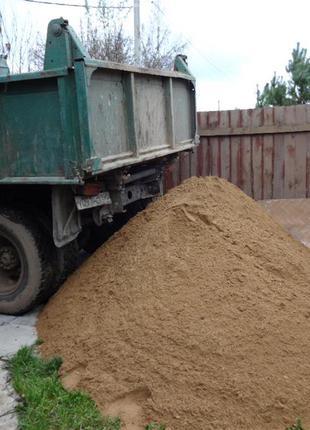 Песок строительный карьерный и речной мытый. Щебень. Вывоз мусора