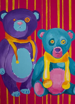 Картина Мишки Тедди