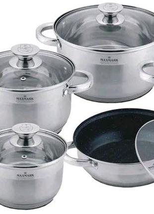 Набор посуды из нержавеющей стали Maxmark