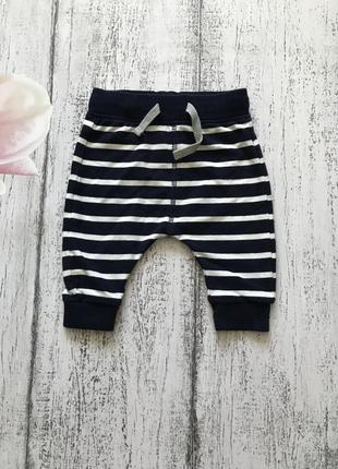 Крутые штаны спортивные брюки лосины в полоску m&s 0-3мес