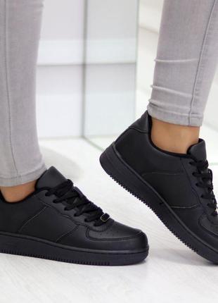 Удобные черные дышащие женские кроссовки кеды на каждый день  ...