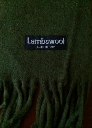 Шерстяной шарф lambswool ( made in italy)
