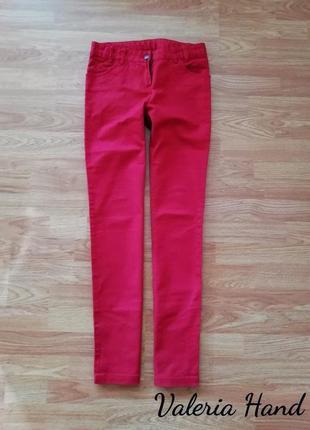 Женские плотные красные джинсы классического кроя - размер 44,...
