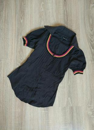 Крутая шёлковая блуза рубашка блуза от say
