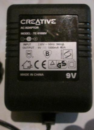 Блок питания Постоянн. трансф. 9V 1A Creative mod: TE-91000V