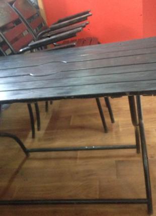 Стол складной+ 3 стула