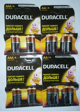 Батарейки Duracell. Тип батарейки АА и ААА