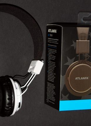 Беcпроводные Bluetooth наушники Atlanfa AT - 7611 с MP3 и FM